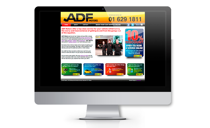 ADF Motors Maynooth Website Design